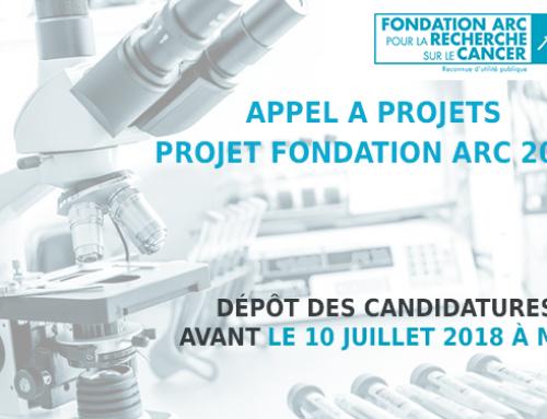 Appel à projets – Projet Fondation ARC 2018