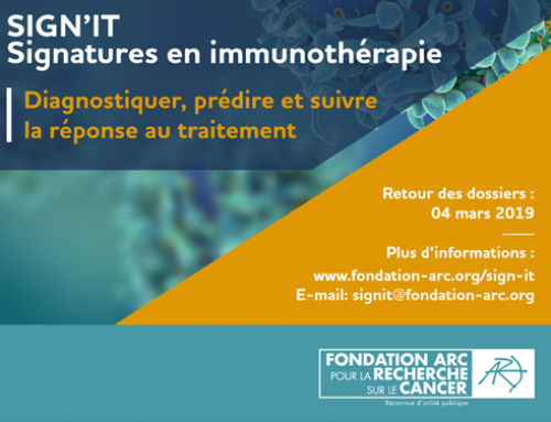 AAP SIGN'IT 2019 : Signatures en immunothérapie