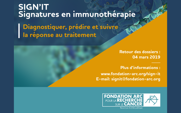 Call for projects Fondation ARC 2019 SIGN'IT : Signatures in