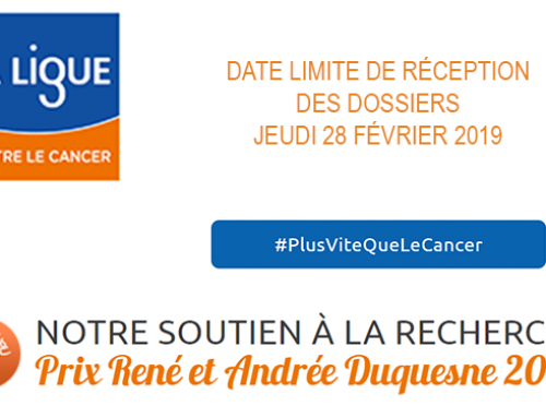 CALL FOR CANDIDATURES DUQUESNE AWARD – PARIS COMMITTEE ON THE LEAGUE AGAINST CANCER