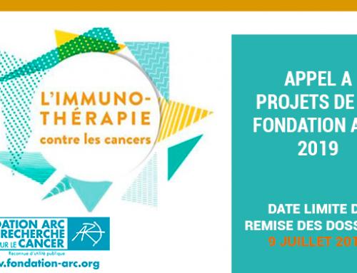 Appel à Projets Fondation ARC 2019