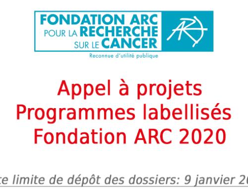 Appel à projets Programmes labellisés – Fondation ARC 2020
