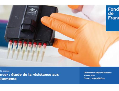 Appel à projets Fondation de France – Cancer : étude de la résistance aux traitements