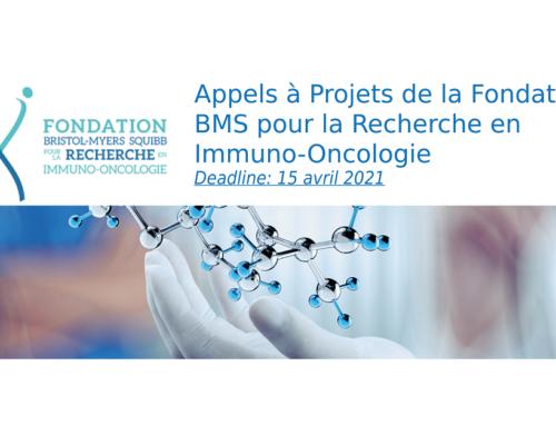 Appel à projets 2021 de la Fondation d'Entreprise Bristol-Myers Squibb pour la Recherche en Immuno-Oncologie