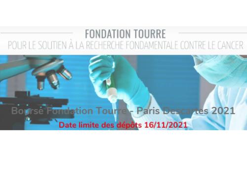 Bourse Fondation Tourre – Paris Descartes 2021