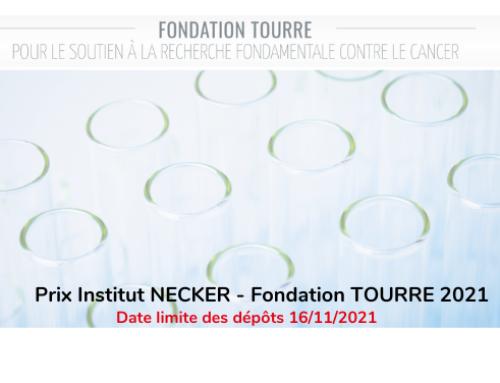 Prix Institut NECKER – Fondation TOURRE 2021